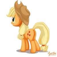 Applejack Rear View by mysticalpha