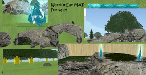 Warriorcat map for sale by neushoorn2