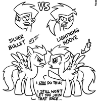 MLP:DP: Twin Brother VS Twin Sisters by JackiePhantom13