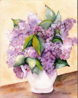 LILACS IN WHITE PITCHER by aladyx