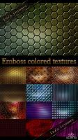 Emboss colored textures by DiZa-74