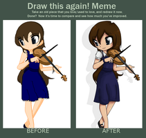 Before and After - Violin girl by tintedslightly