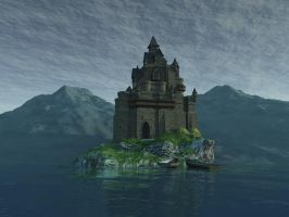 Fantasy castle background by indigodeep