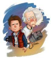 back to the future- color by kiska242