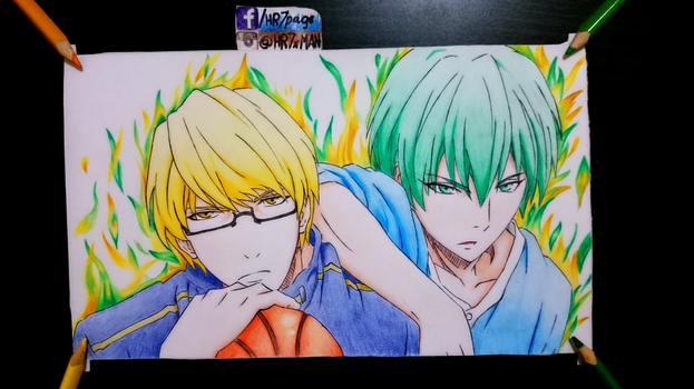 Kise Ryouta and Midorima Shintarou color swap by HR7xMan