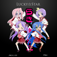 Lucky Star - Anime Icon v3 by duckne55