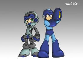Megaman and Beck WALLPAPER VERSION by TeNsHi-AnGeL
