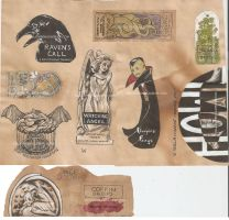 Bottle Labels Raven collection by AmberStoneArt