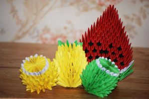 3d Origami fruit by HoneyBee249