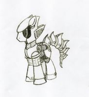 Concept Sketch:Metal Sonic is Best Pony by Destro-the-Dragon
