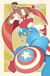 Captain America and Falcon Let Freedom Ring by daabcreative