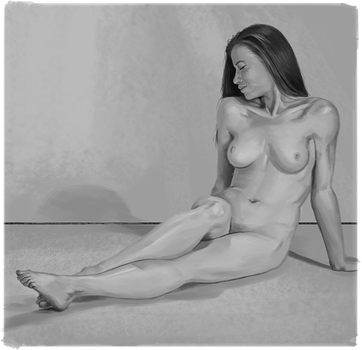 Nude Female Value Study by doczal