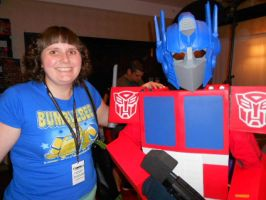 Auto Assembly 2014 - Optimus Prime + Me! by HealerCharm