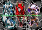 Horned Beauties Adopt ( CLOSED ) by Melon-Shark