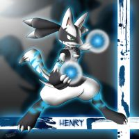 Henry, the Lucario by MikeGTS