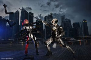 MGR - Raiden vs Mistral by vaxzone