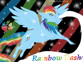 Rainbow Dash Wolf  by Chibi-Cola-SkyWolf62