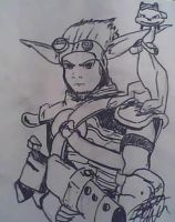 Jak and Daxter sketch by britt-dvorak