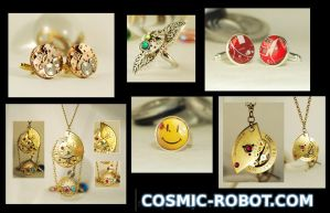 Cufflinks and Jewellery from Cosmic-Robot.com by Henri-1
