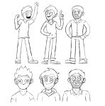 Character Redesigns by myhelmethazstickers