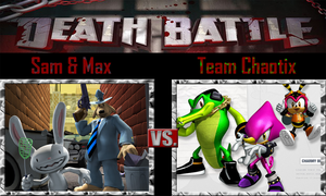 Sam and Max vs Team Chaotix by SonicPal