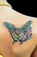 Mariposa 2 Cover Up After by maximolutztattoo