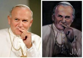 Pope John Paul II - acrylic paint by jolabrodnica