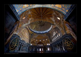 Hagia Sophia Interior by tyt2000