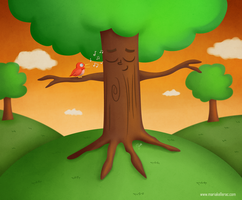 Happy Tree by KellerAC