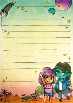 Amirah and Sammy notepad by MTToto