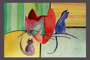 love colors love cats by MoRtiJiA