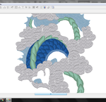 Dragon of the East ~ embroidery pattern WIP by goiku
