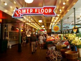 Pike Place Market interior by icreatedesigns
