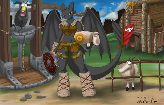 Viking Toothless by mike-son