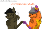 Commission: Awesome Hat Dude by Skythewolfdog9