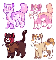 Stardust/cats adops! CLOSED by BeCarefulPaint