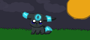 baby umbreon by Bramblepelt34