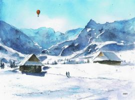 A winter in mountains by sanderus