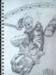 Ghost Rider Sketch by dude446