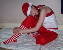 Christmas - Tired Stocker 2 by Gracies-Stock