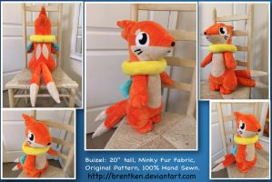 Buizel Plush (Custom, Handmade) by brentken