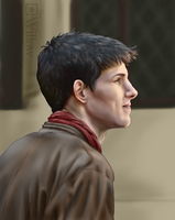 Colin Morgan - portrait by LA-P