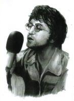 John Lennon Charcoal portrait for sale by johnstewartart