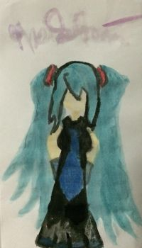 Miku painted by hopemay24