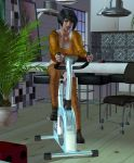 Gaetania using the exersice bike by LuckyLilith