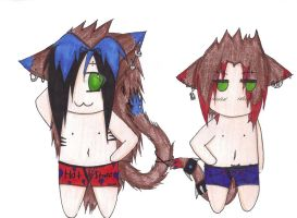 .: In our undies :. by SapphireItrenore