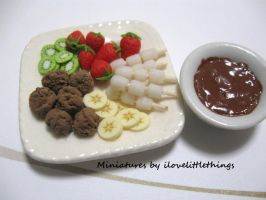 Miniature Chocolate Fondue II by ilovelittlethings