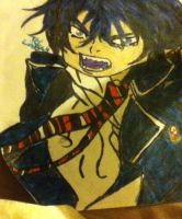 Rin Okumura Drawing from Ao no Exorcist by belxfran-desu