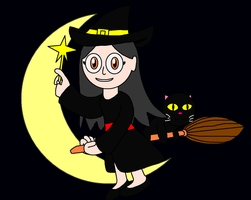 Leah as a witch by theblooman
