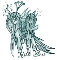 43# Request - Queen Chrysalis and Carinae by Anzu18